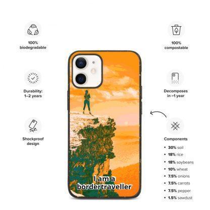 Bionedbrytbar iPhone fodral – Bordertraveller Mountain