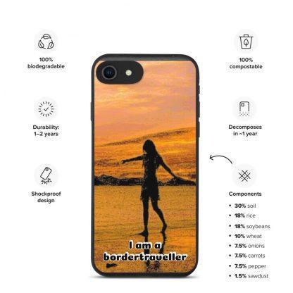 Biodnedbrytbart iPhone fodral – Bordertraveller Beach