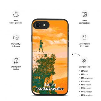 Bionedbrytbar iPhone fodral – Bordertraveller Mountain